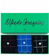 Alfredo Gonzales Check 3 Pack Giftbox black