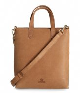 Fred de la Bretoniere Handbag M Heavy Grain Leather Sand