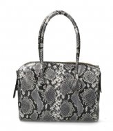 Fred de la Bretoniere Handbag L Snake Printed Leather black