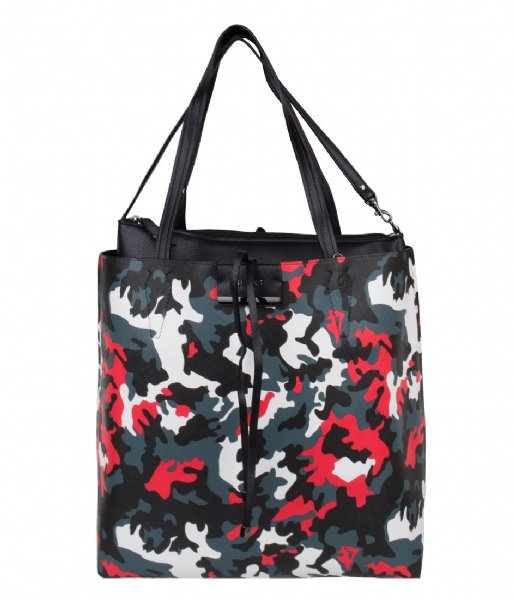 6913d11c20a Bobbi Large Inside Out Shopper black camo Guess | The Little Green Bag