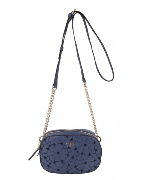 2366411dfa38 Jayne Mini Crossbody Top Zip Blue Guess