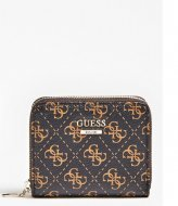 Guess Kamryn Slg Small Zip Around brown multi