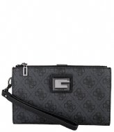 Guess Valy Slg Double Zip Organizer Coal