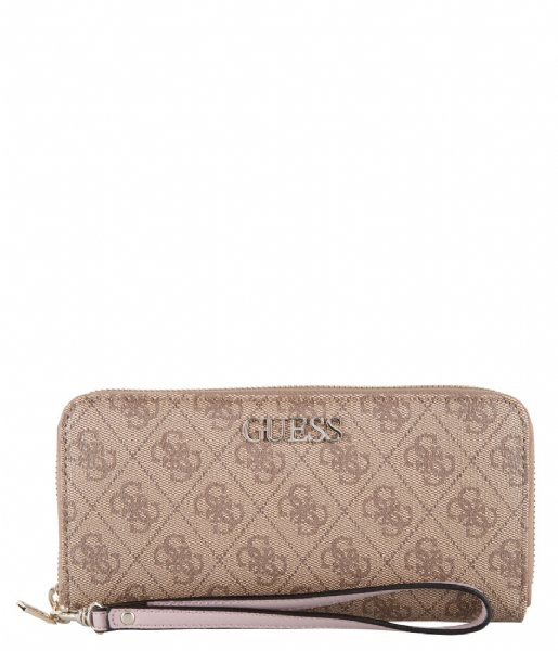 Guess  Alby Slg Large Zip Around brown