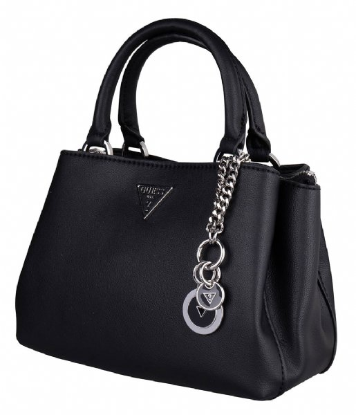 Guess  Ambrose Sml Turnlock Satchel Black