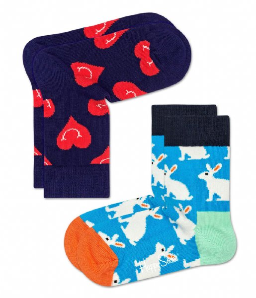 Happy Socks  Kids Socks Smiley Heart 2-pack smiley heart (6500)