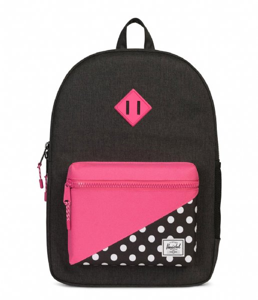 Heritage Youth XL black crosshatch polka dot (02205) Herschel Supply ... d42bcf07434cb