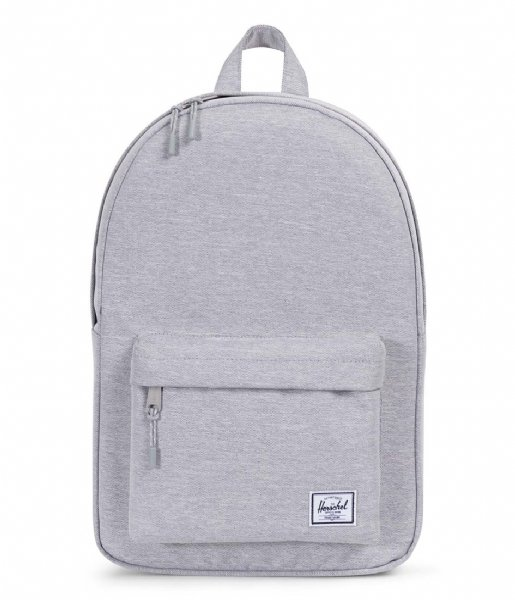 cf6e4424f16 Classic Mid Volume light grey crosshatch (01866) Herschel Supply Co. | The  Little Green Bag