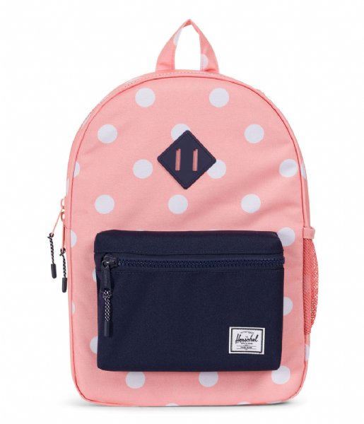 39854bf7941a Heritage Youth peach polka dot peacoat (01912) Herschel Supply Co ...