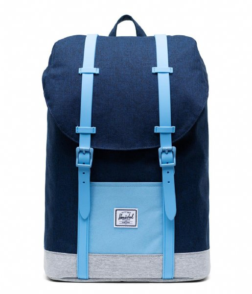 46b8b040637 Retreath Youth medieval blue crosshatch (02745) Herschel Supply Co ...