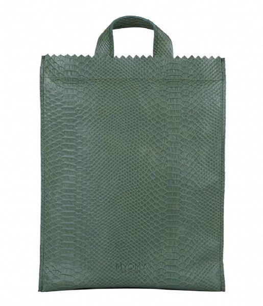 83f45b23e0c6 My Paper Bag Back Bag Medium anaconda sea green (10893049) MYOMY ...