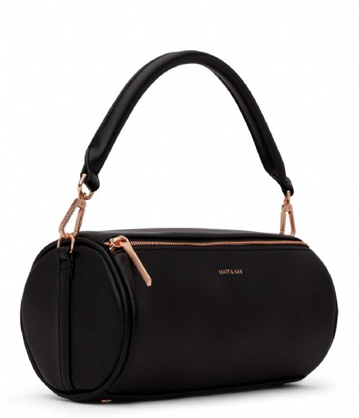 Matt & Nat  Seoul Loom Satchel black rose gold