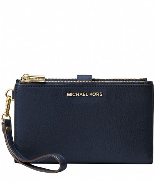 838dd57f3898 Adele Double Zip Wristlet admiral & gold hardware Michael Kors | The ...