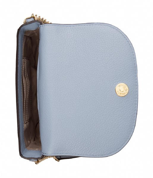 fe7def8341e752 Half Dome Crossbody pale blue & gold hardware Michael Kors | The ...