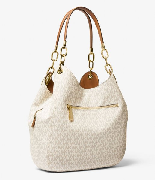 60949655a75215 Lillie Large Chain Shoulder Tote vanilla acorn Michael Kors | The ...