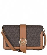 Michael Kors Medium Triple Gsst Xbody brn/acorn