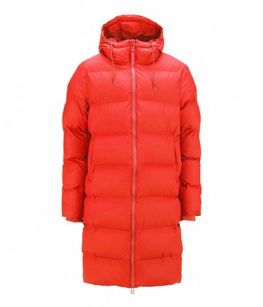 Rains  Long Puffer Jacket red (08)