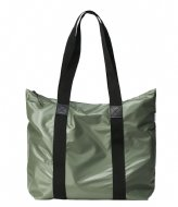 Rains Tote Bag Rush Shiny Olive (84)