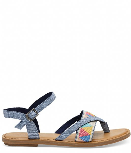 810a0fa2fe7 Lexie Sandal Tribal blue chambray (10011786) TOMS