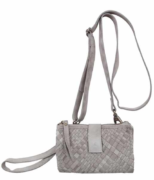 Unmade Copenhagen Crossbody bag Braiding Clutchwallet light grey (84)