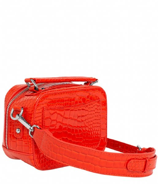 HVISK Crossbody bag Blaze Croco Orange/red (118)