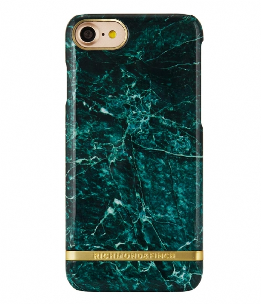 Flot iPhone 7 Cover Marble Glossy green marble (013) Richmond & Finch WJ-89