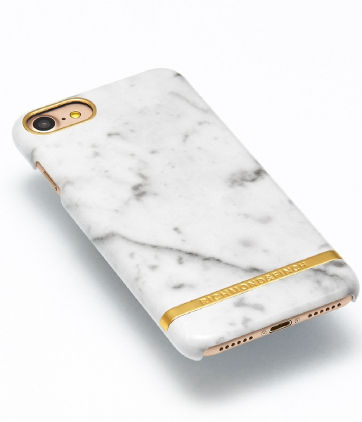 Rask iPhone 7 Cover Marble Glossy white marble (014) Richmond & Finch YT-15