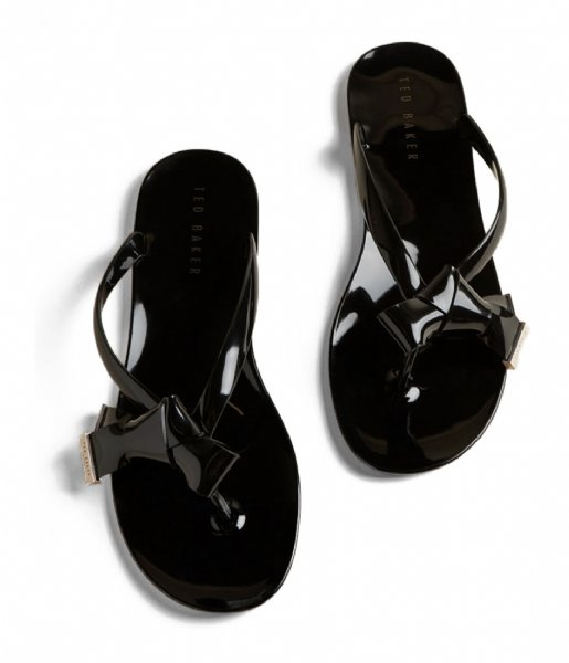 Ted Baker  Luzzi Origami Bow Flip Flop Rude rude black
